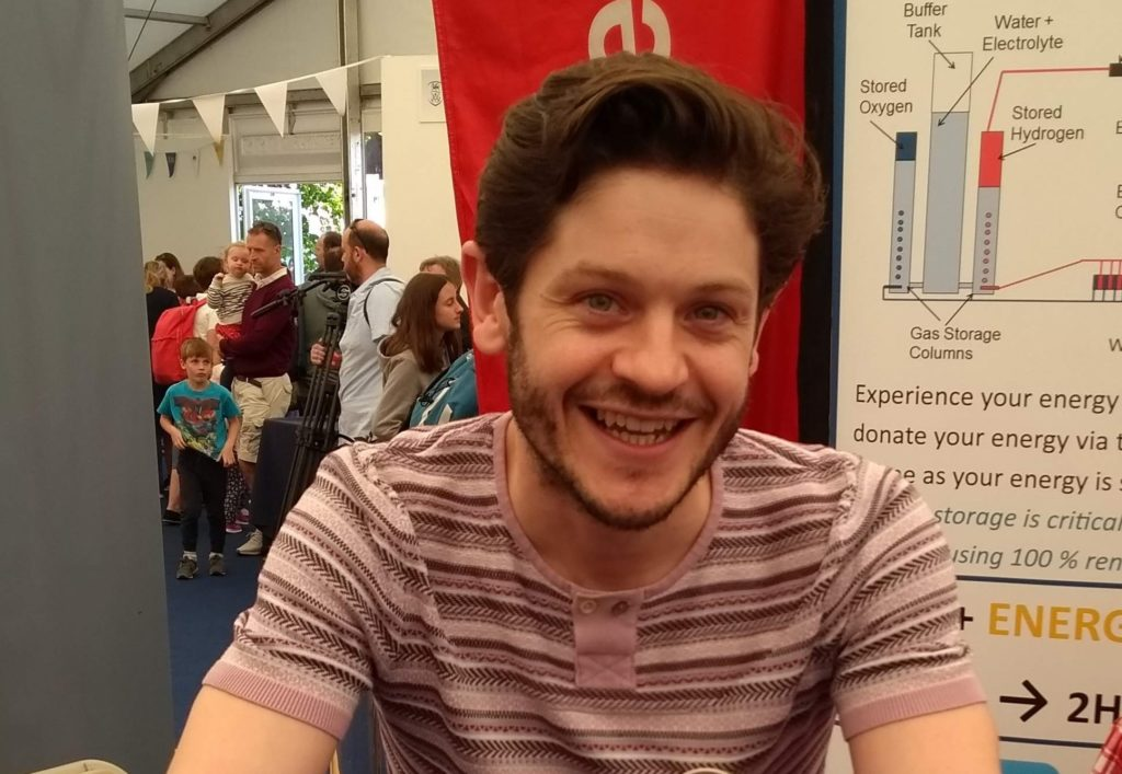 Iwan Rheon.  Not quite the iron throne but near enough perhaps?